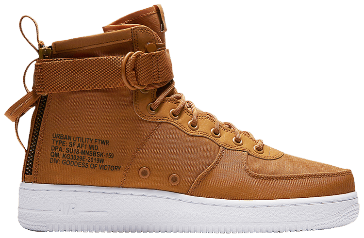 SF Air Force 1 Mid 'Desert Ochre' Nike 917753 700 | GOAT