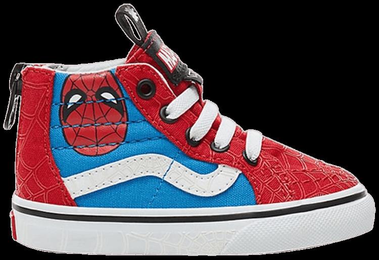 Marvel x SK8 Hi Zip Toddler 'Spiderman'