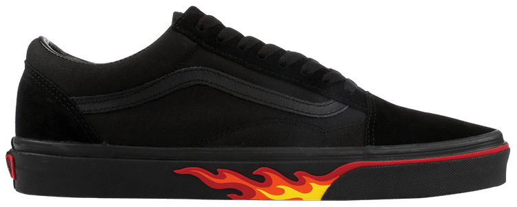 vans flame wall old skool