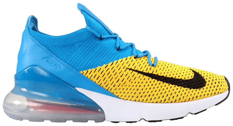 nike air max 270 flyknit blue yellow