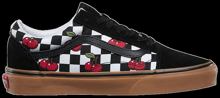 Cherry Checkerboard Vans Old Skool