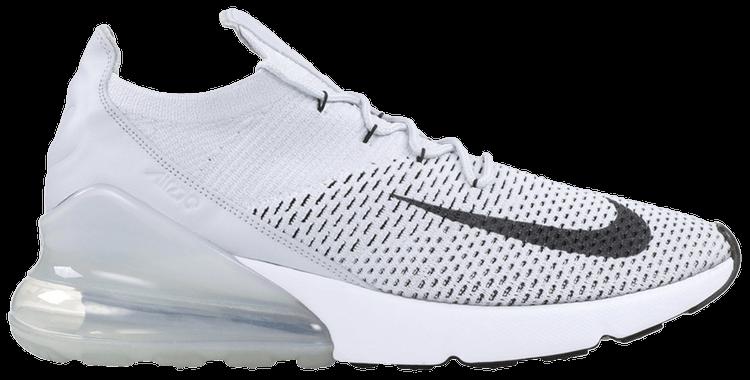 Nike Air Max 270 Flyknit pure platinumdark grayblack ab