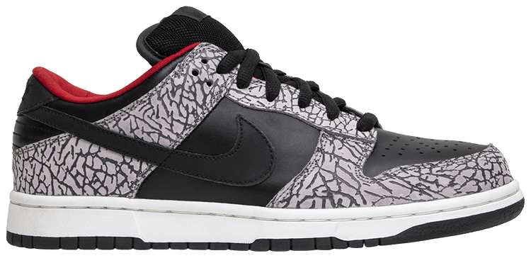 lace up in shop high quality Supreme x Dunk Low Pro SB 'Black Cement'