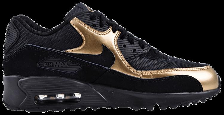Air Max 90 Mesh GS 'Black Gold' - Nike - 833418 013 | GOAT