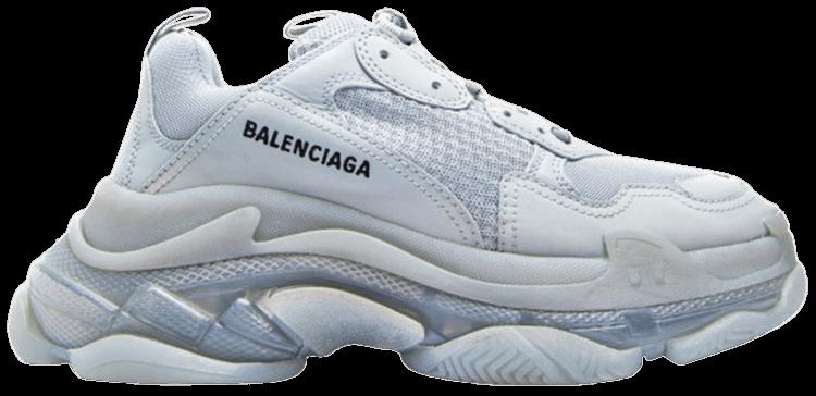 Balenciaga Triple S Clear Sole Trainer Sneaker in Black for