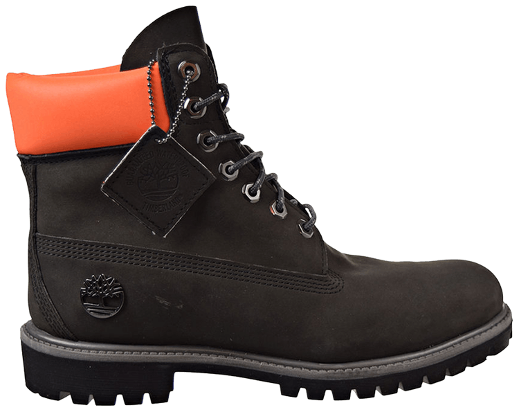 6 Inch Premium Waterproof Boot 'Black Orange'