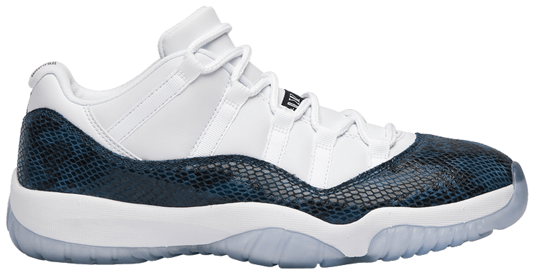 air jordan 11 retro low navy snakeskin