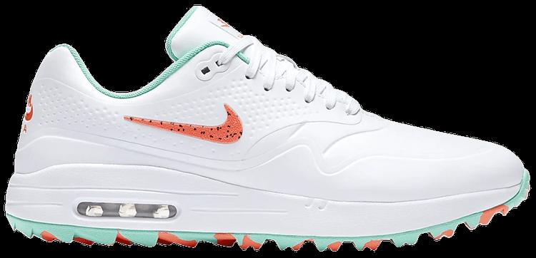 Air Max 1 Golf White Aurora Hot Punch Nike Aq0863 104 Goat