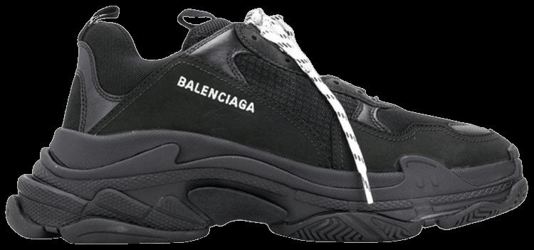 Balenciaga Black Triple S Clear Sole Sneakers SSENSE UK