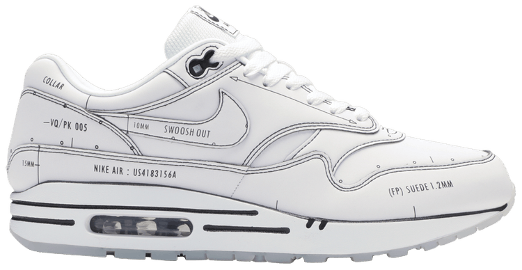 Air Max 1 'Sketch To Shelf - White