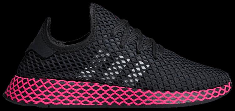 Descortés vértice Adiccion  Wmns Deerupt Runner 'Black Shock Pink' - adidas - DB2687   GOAT