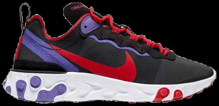 Hacer la cena Camion pesado Corea  Wmns React Element 55 'Black Red Purple' - Nike - CQ9903 001 | GOAT