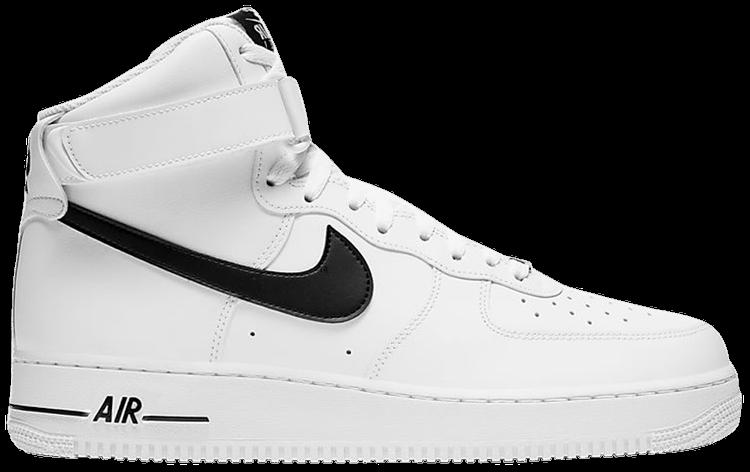 Air Force 1 High White Black Nike Ck4369 100 Goat