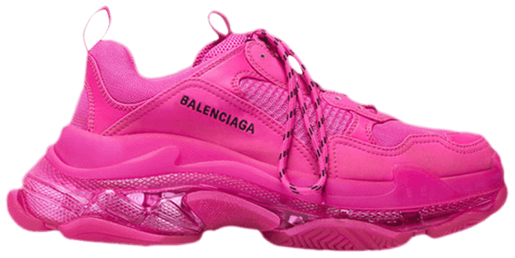 Balenciaga WOMENS Triple S US 4 7 Trainers Pink And
