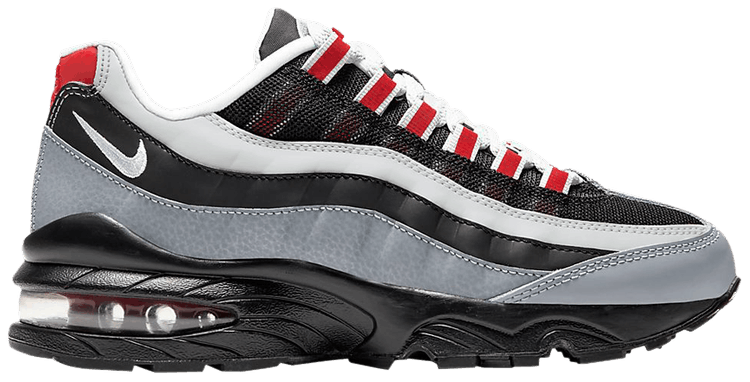Air Max 95 Gs Particle Grey Red Nike 905348 036 Goat