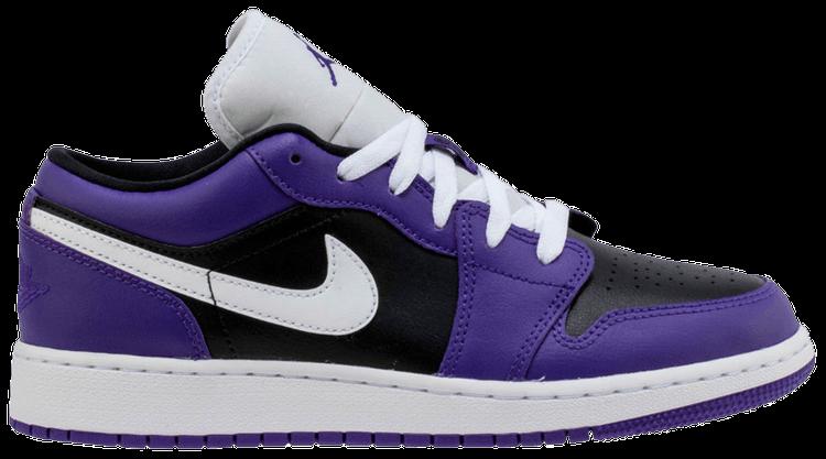Air Jordan 1 Low GS 'Black Court Purple' - Air Jordan ...