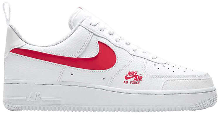 Air Force 1 Low Utility White Red Nike Cw7579 101 Goat