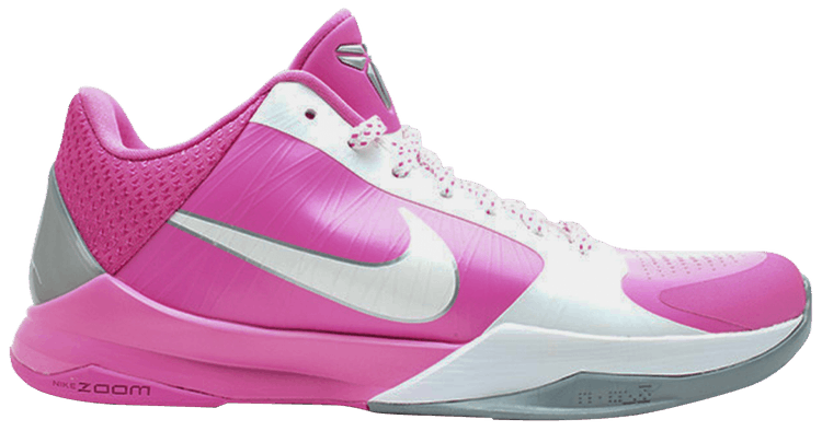 Kobe V 5 Zoom TB Yow Think Pink embroidery patch